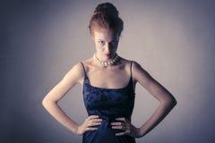 Boze elegante vrouw Stock Afbeelding