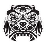 boze gorrilaillustratie in witte en zwarte kleur vector illustratie