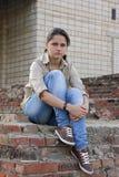 Boze jonge vrouw royalty-vrije stock foto