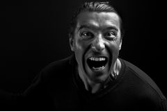 Boze mens die bij u schreeuwt Royalty-vrije Stock Foto