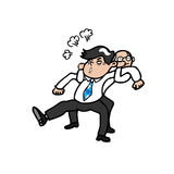 Boze mens en werkgever royalty-vrije illustratie