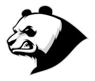 Boze panda hoofdmascotte Stock Fotografie