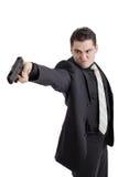 Boze persoon met een kanon Stock Foto's