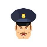 Boze politieagent wrathful Cop Agressieve ambtenarenpolitie Stock Foto