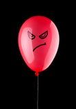 Boze rode ballon Stock Afbeelding