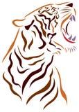 Boze tiger royalty-vrije illustratie