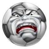 Boze van de Balsporten van de Voetbalvoetbal het Beeldverhaalmascotte Stock Foto