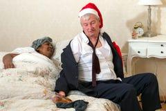 Boze vrouw en dronken echtgenoot Royalty-vrije Stock Foto's