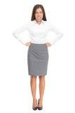 Boze vrouw: verstoorde bedrijfswerkgever op wit Stock Fotografie