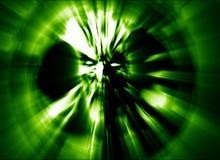 Boze zombie hoofd groene dekking Illustratie in genre van verschrikking stock illustratie