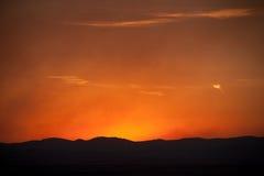 Bozeman, ηλιοβασίλεμα της Μοντάνα Στοκ Φωτογραφίες