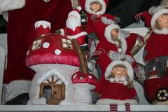 Bozen圣诞节市场细节  免版税库存照片
