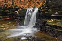 Bozenkill Falls. Located at Bozenkill Preserve Scoharie New York stock images