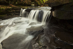 Bozenkill Waterfall. Waterfall at the Bozenkill Preserve in NY stock photo
