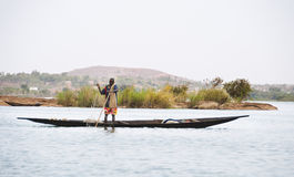 Bozo fisherman outside Bamako, Mali Stock Photography