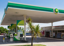 BP加油站 免版税库存照片