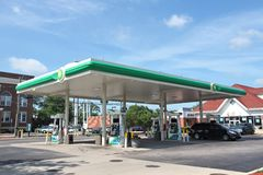 BP加油站 库存照片