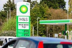 BP加油站 免版税库存图片
