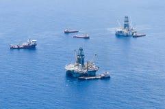 bp深水展望期漏油 免版税库存照片