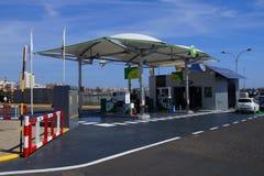 BP自助加油站 库存图片