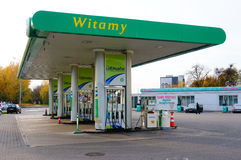 BP bensinstation arkivbilder
