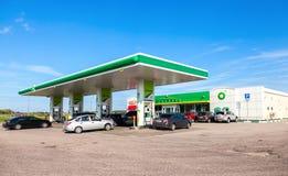 BP - British Petroleum gas station Stock Photos