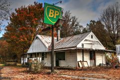 Bp Vintage Gas Station royalty free stock photography