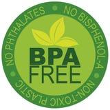 BPA освобождают иллюстрацию ярлыка иллюстрация вектора