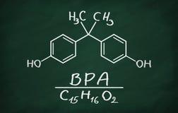 BPA & x28几何相似模型; bisphenol& x29; 免版税库存图片