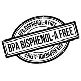 BPA Bisphenol-A Free rubber stamp Royalty Free Stock Photos