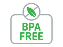 Free BPA Free Badge Vector. Bisphenol A Free Label For Products. Flat Illustration Isolated On White. Royalty Free Stock Images - 95559089