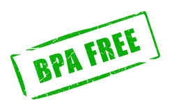 Bpa free plastic stamp Royalty Free Stock Photography