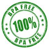 Bpa free stamp. 100 bpa free rubber stamp Stock Image