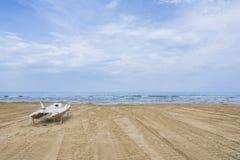 Bpat on the beach Royalty Free Stock Photos