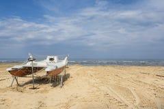 Bpat on the beach Royalty Free Stock Image