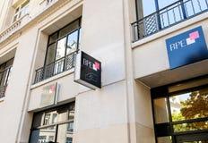 BPE-Hauptsitz-Banklogo Lizenzfreies Stockbild