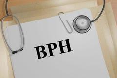BPH - medical concept vector illustration