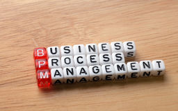 BPM  business process management on wood Stock Image