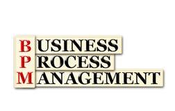 BPM. Conceptual BPM Business Process  Management  acronym on white Stock Image