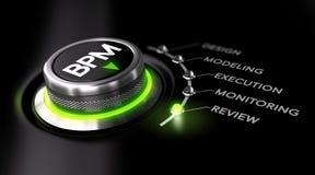 BPM, gestão de processo de negócios ilustração royalty free