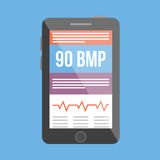 BPM medical tracker. Vector illustration Stock Photos