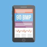 BPM medyczny tropiciel również zwrócić corel ilustracji wektora Zdjęcia Stock