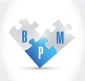 Bpm puzzle pieces illustration design Stock Images