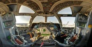 Bpmbercockpit för flygvapen B1 Arkivbild
