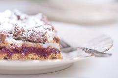 Bräcklig kaka med plommondriftstopp. Royaltyfri Bild