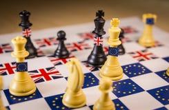 Bräde för Brexit schackstrategi royaltyfri bild