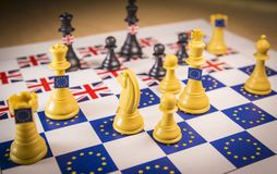 Bräde för Brexit schackstrategi royaltyfria bilder