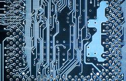 Bräde för elektronisk strömkrets arkivbilder