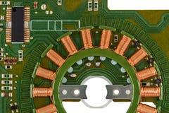 Bräde för elektronisk strömkrets av den gradvisa motorn Arkivfoto