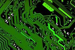 Bräde för elektronisk strömkrets i gräsplan & svart - textur Royaltyfri Foto